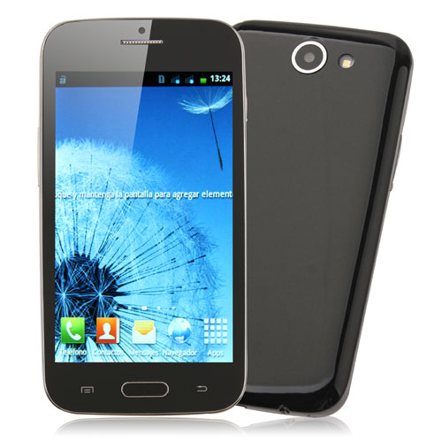 Tengda J9500 Smartphone Android 4.0 MTK6517 Dual Core 5.0 Inch 3.0MP Camera- Black