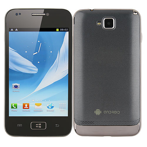 i8750 Smartphone Android 2.3 OS SC6820 1.0GHz 4.0 Inch 2.0MP Camera- Grey