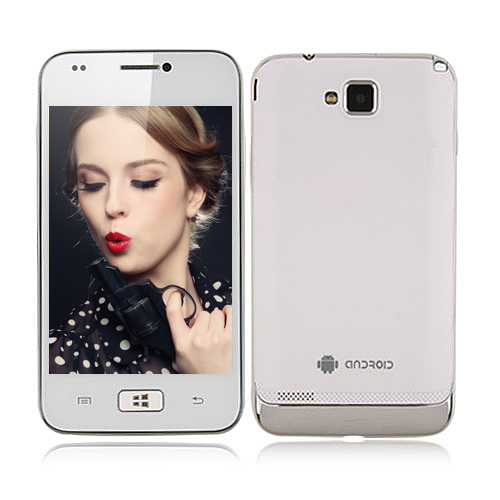 i8750 Smartphone Android 2.3 OS SC6820 1.0GHz 4.0 Inch 2.0MP Camera- White