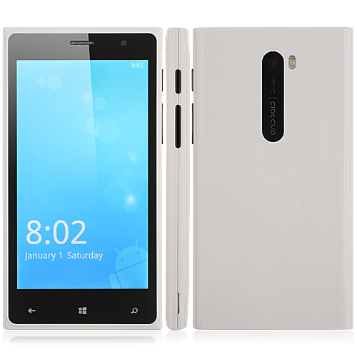 P1301 Smartphone Android 2.3 OS SC6820 1.0GHz 4.5 Inch 3.0MP Camera- White