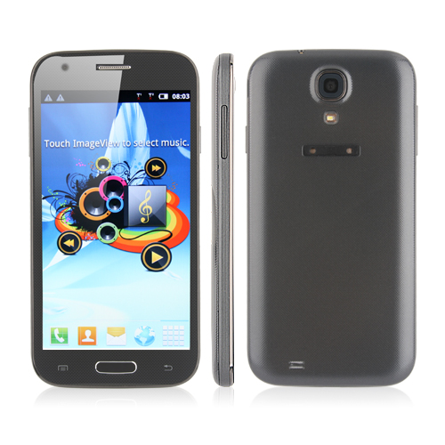 I9500 Smartphone Android 2.3 OS SC6820 1.0GHz 5.0 Inch Camera- Grey
