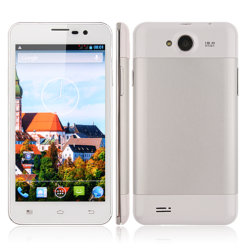 F6770 Smartphone Android 4.2 MTK6589 Quad Core 1G 4G 5.0 Inch HD Screen 13.0MP Camera- White