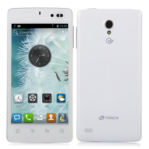 K-Touch E616 Smartphone Android 4.1 MSM8625Q Quad Core 4.5 Inch 4GB 5.0MP Camera- White
