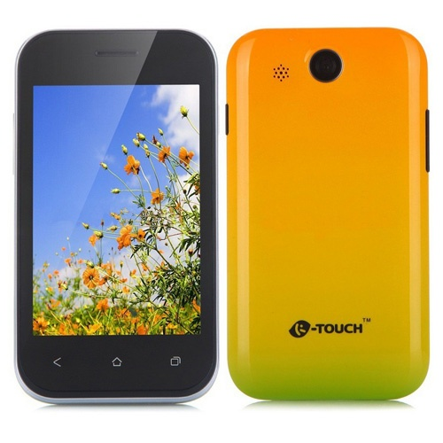 K-Touch D8800 Smartphone Android 2.3 MSM7125A 1.0GHz 3.5 Inch GPS WiFi- Yellow & Green