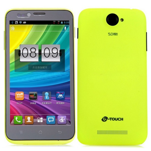 K-Touch S5 Smartphone Android 4.1 MSM8225Q Quad Core 3G GPS 5.0 Inch 1GB 4GB- Green