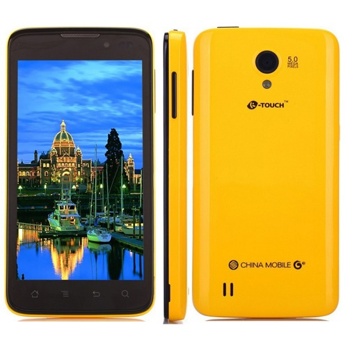K-Touch T6 Smartphone Android 4.0 LC1810 Dual Core 4GB 4.5 Inch 5.0MP Camera GPS- Yellow & Black