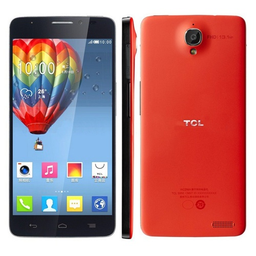 TCL idol X S950 Smartphone Android 4.2 MTK6589T Quad Core 2GB 16GB IPS FHD Screen 5 Inch- Red & Black