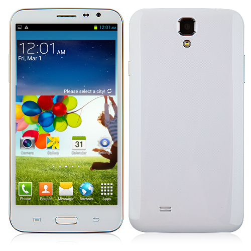 N9600 Smartphone Android 4.2 MTK6589T Quad Core 6.0 Inch 1GB 16GB HD Screen Gesture Sensing- White