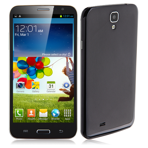 N9600 Smartphone Android 4.2 MTK6589T Quad Core 6.0 Inch 1GB 16GB HD Screen Gesture Sensing- Blue