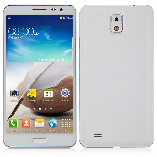 N3 Smartphone Android 4.2 MTK6589 Quad Core 5.7 Inch 1GB 8GB IPS HD Screen- White