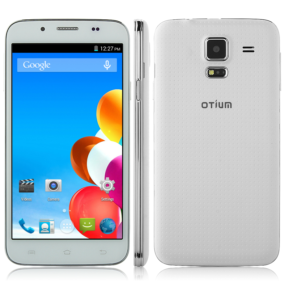 OTIUM S5 Smartphone Android 4.4 MTK6582 5.0 Inch IPS Screen Air Gesture OTG - White