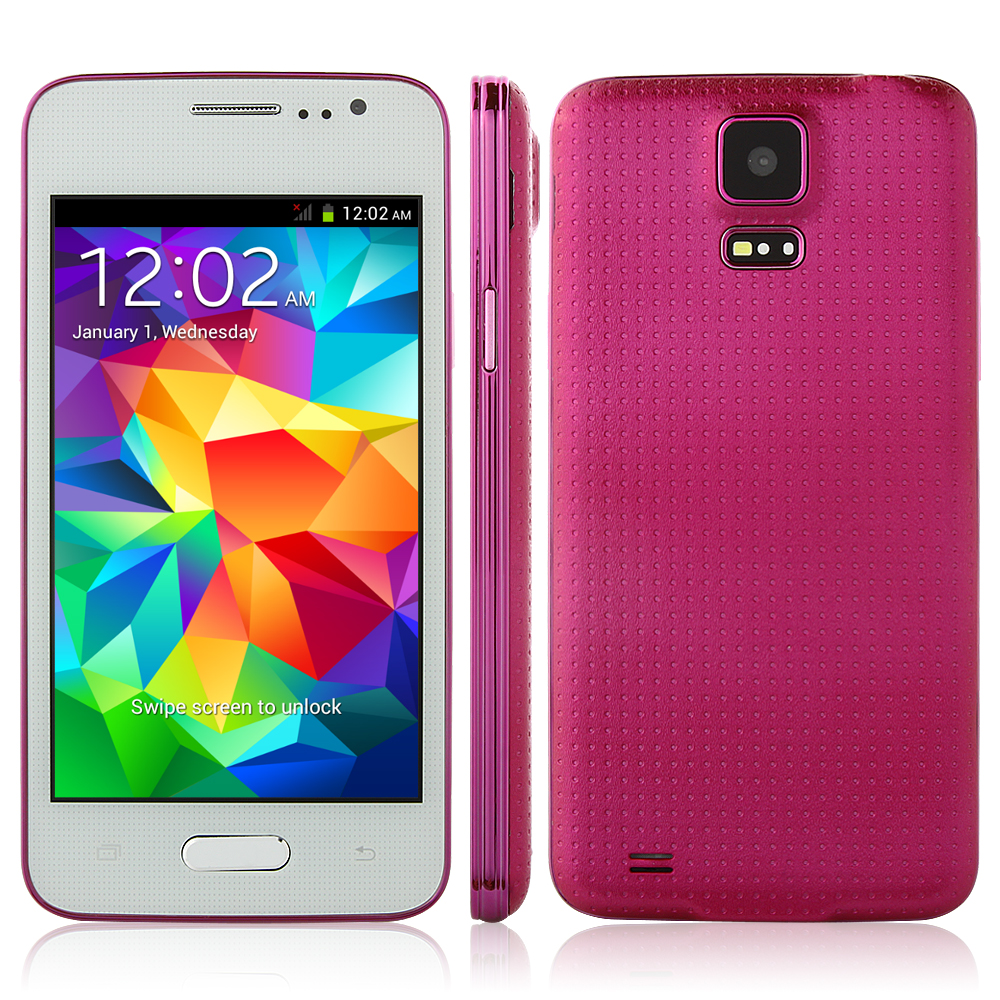 Brand New mini S5/GT9000 Smartphone MTK6572 Android 4.2 4.0 Inch Wifi - Rose