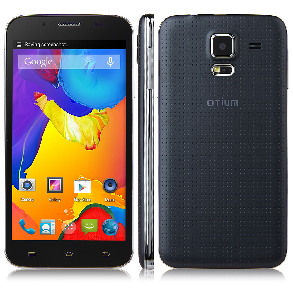 OTIUM S5 Smartphone Android 4.4 MTK6582 5.0 Inch IPS Screen Air Gesture OTG - Black