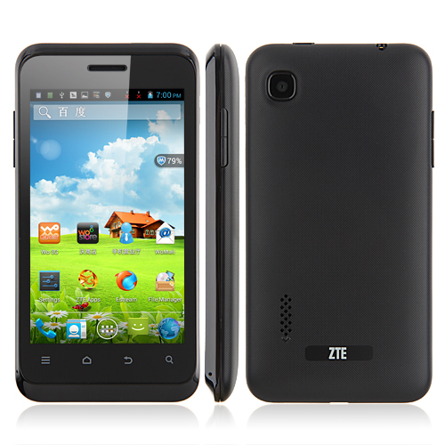 Used ZTE V889S Smartphone Android 4.1 MTK6577 Dual Core 3G GPS 4.0 Inch Multi-Language