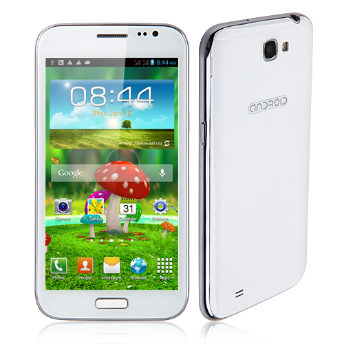Changjiang N7100 Smartphone Android 4.1 MTK6577 Dual Core 3G GPS 1GB 4GB 5.3 Inch 12.0MP Camera- White
