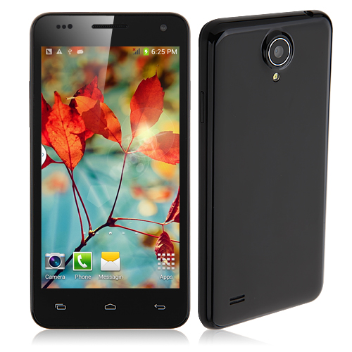 W450 Smartphone MTK6582 Quad Core 1.3GHz Android 4.2 3G GPS 4.5 Inch- Black with Gift