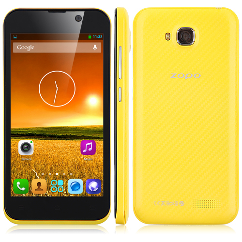 ZOPO ZP700 Cuppy Smartphone MTK6582 Quad Core 1.3GHz Android 4.2 4.7 Inch 3G GPS OTG OTA- Yellow