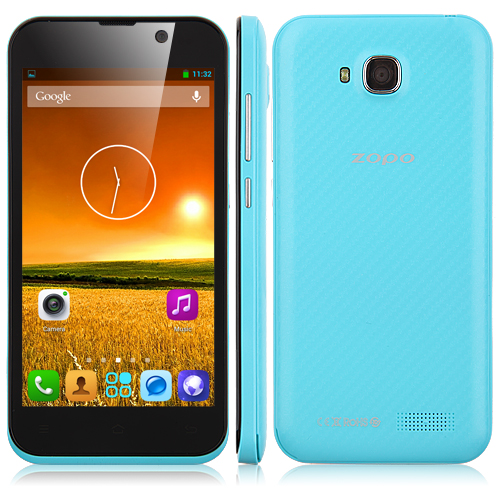 ZOPO ZP700 Cuppy Smartphone MTK6582 Quad Core 1.3GHz Android 4.2 4.7 Inch 3G GPS OTG OTA- Blue