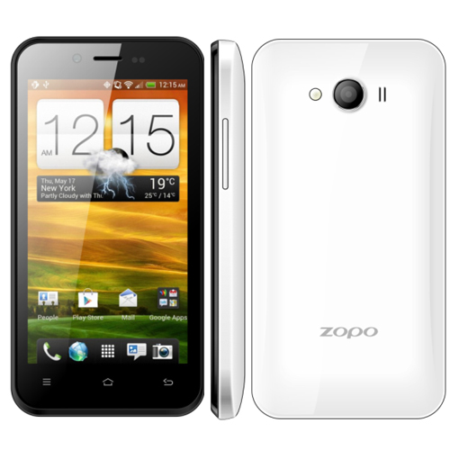 ZOPO ZP600+ Infinity Smartphone Naked Eye 3D MTK6582 Quad Core Android 4.2 3G WCDMA 850/900/2100MHz- White