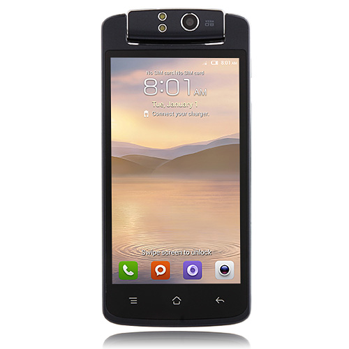 T908 Smartphone 206° Free Rotation Camera Android 4.2 MTK6572W 3G 4.5 Inch- Dark Blue
