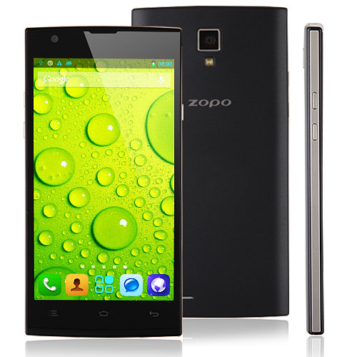 ZOPO ZP780 Smartphone MTK6582 Android 4.4 5.0 Inch WCDMA 900/1900/2100MHz- Black