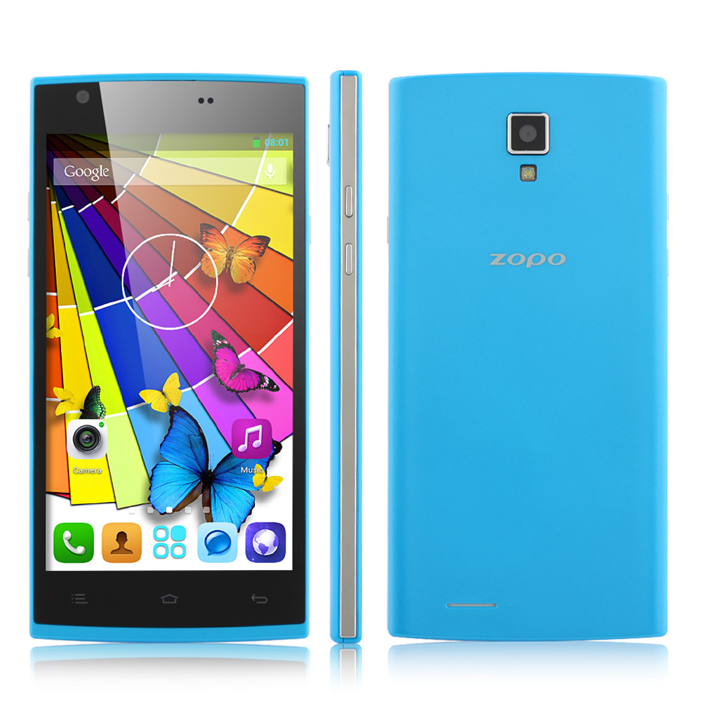 ZOPO ZP780 Smartphone MTK6582 Android 4.2 5.0 Inch WCDMA 900/1900/2100MHz- Blue
