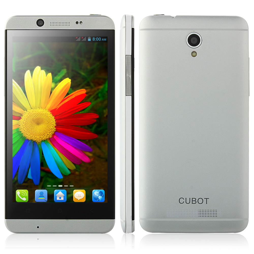 Cubot Ones Smartphone Android 4.2 MTK6582 Quad Core 4.7 Inch 1GB 4GB 3G Silver
