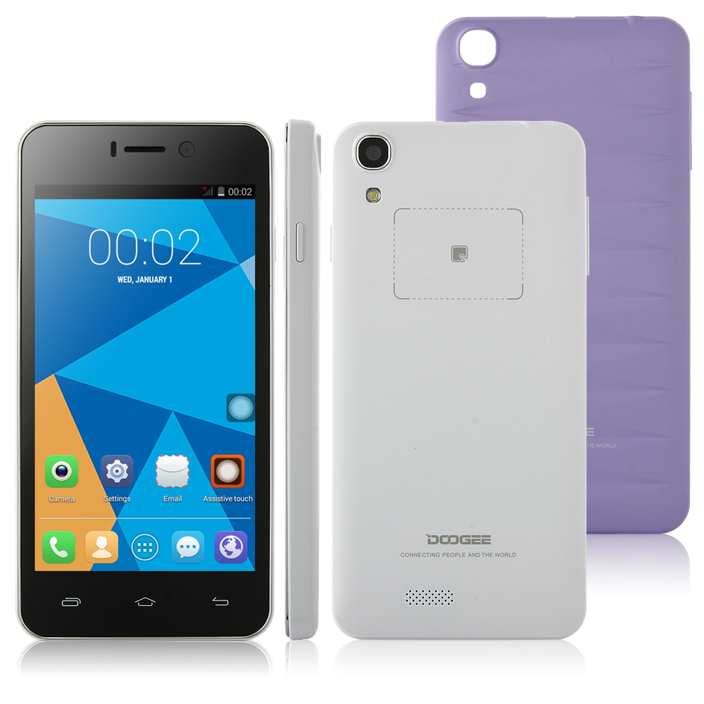 DOOGEE VALENCIA DG800 Smartphone Back Touch Android 5.0 MTK6582 4.5 Inch Purple