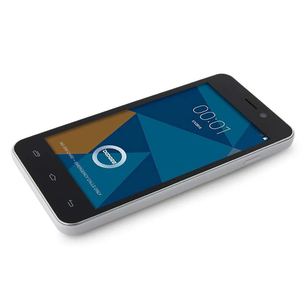 DOOGEE VALENCIA DG800 Smartphone Back Touch Android 5.0 MTK6582 4.5 Inch Black