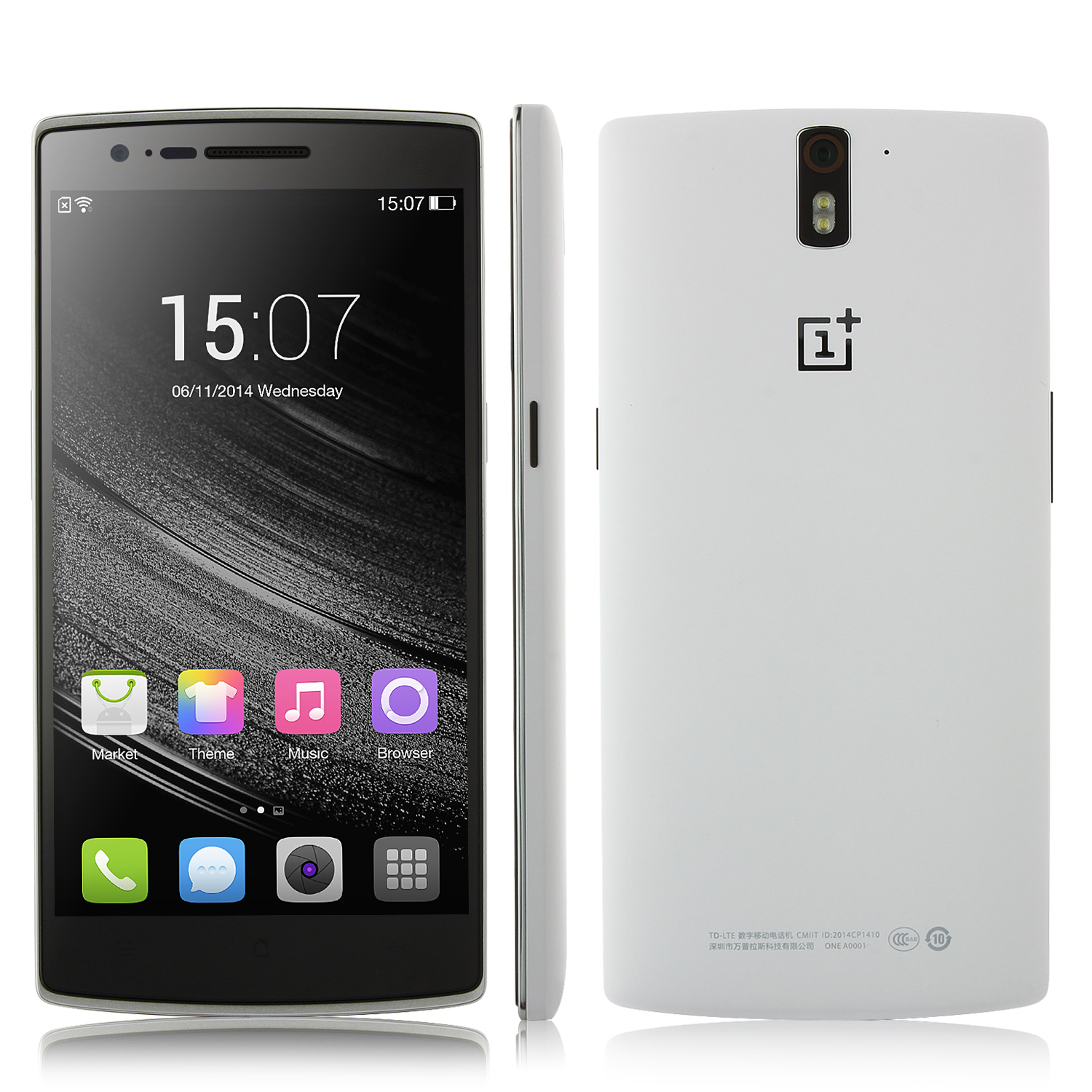 ONEPLUS ONE Smartphone 3GB 64GB Snapdragon 801 2.5GHz 5.5 Inch Gorilla Glass FHD White
