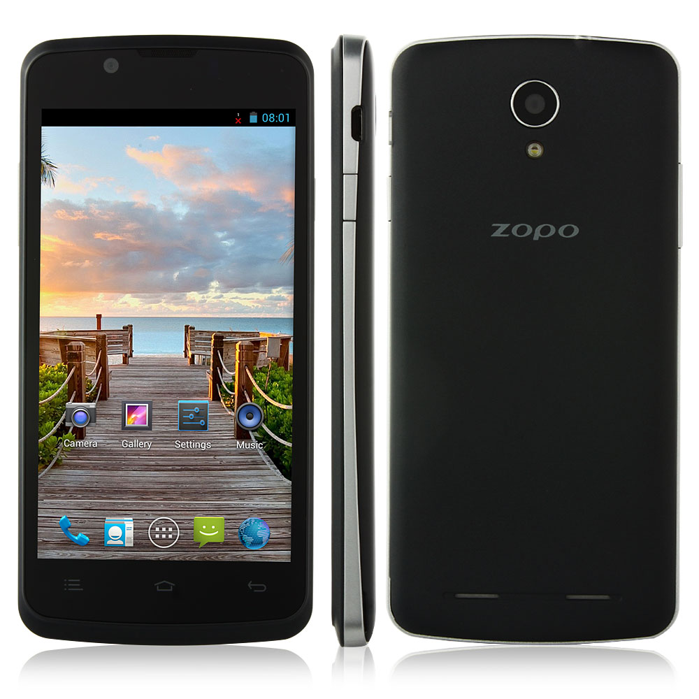 ZOPO ZP590 Smartphone Android 4.4 MTK6582 3G GPS 4.5 Inch QHD Screen- Black