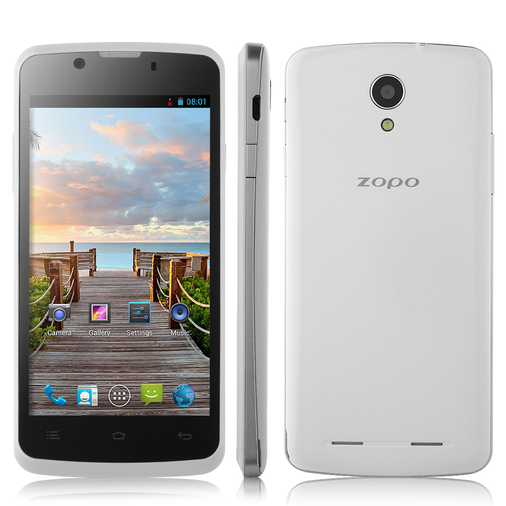 ZOPO ZP590 Smartphone Android 4.4 MTK6582 3G GPS 4.5 Inch QHD Screen- White