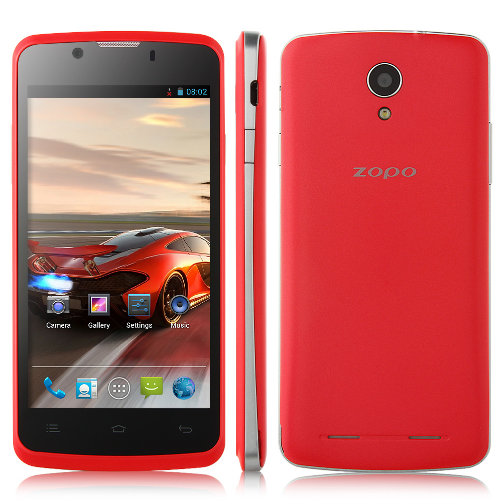 ZOPO ZP590 Smartphone Android 4.4 MTK6582 3G GPS 4.5 Inch QHD Screen- Red