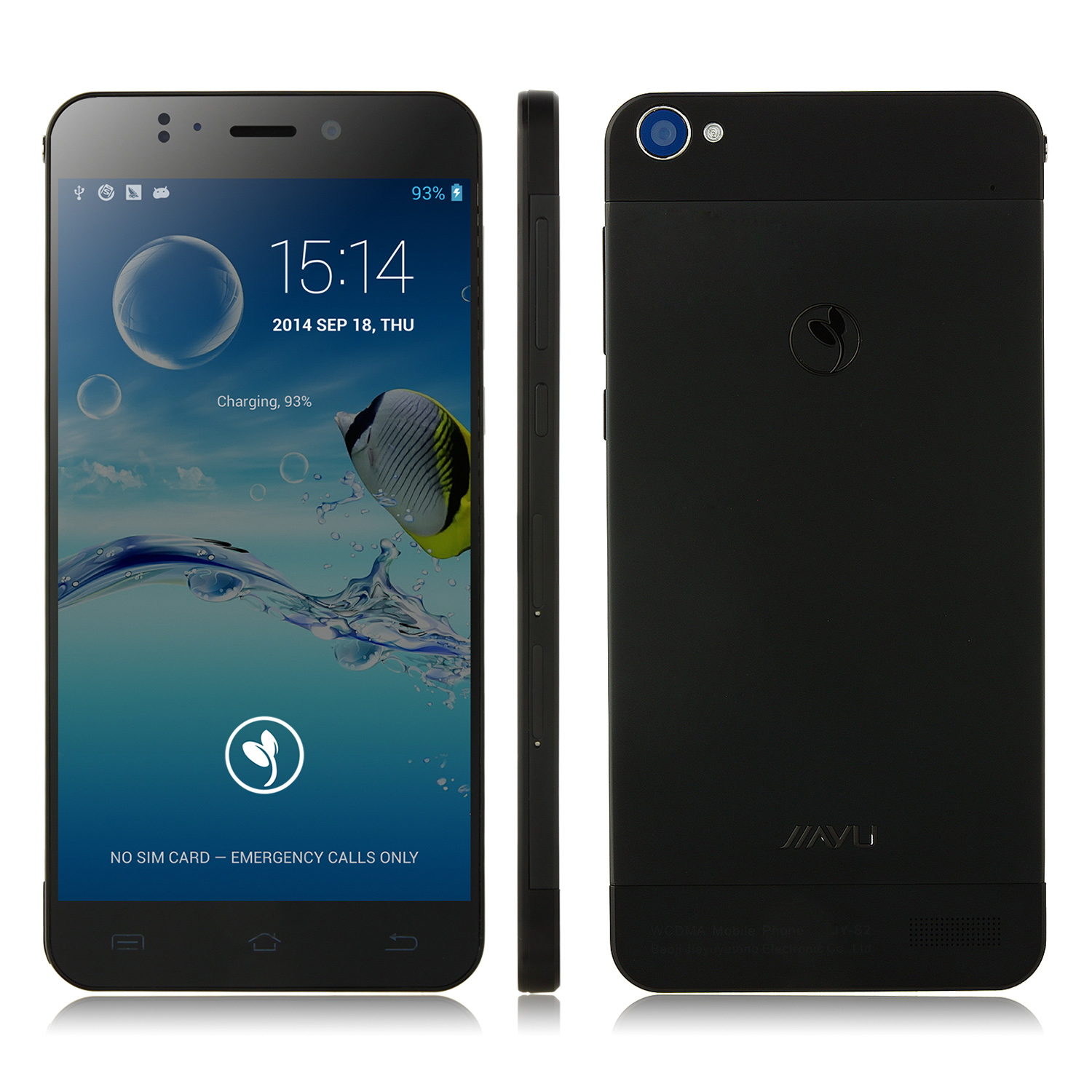 JIAYU S2 Smartphone MTK6592 5.0 Inch FHD Screen Narrow Bezel 2GB 32GB- Black