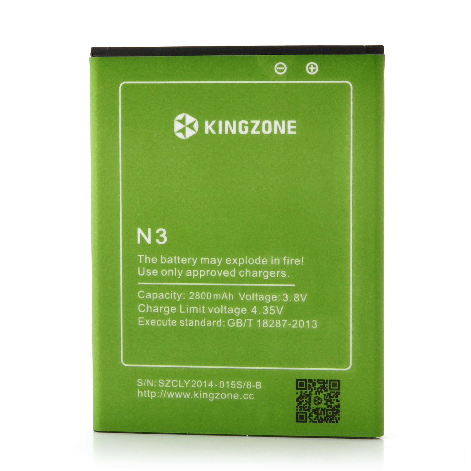 KINGZONE N3 4G LTE Android 4.4 Quad Core 5.0 Inch NFC Fingerprint Identification- Black