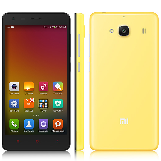XIAOMI Redmi 2 Smartphone 64bit 4G Quad Core 4.7 Inch HD Screen 8.0MP GLONASS- Yellow
