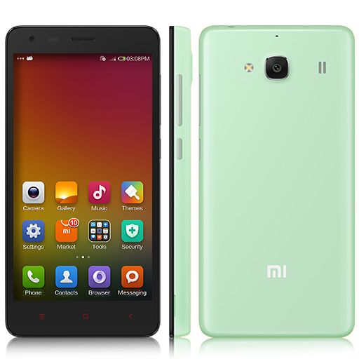 XIAOMI Redmi 2 Smartphone 64bit 4G Quad Core 4.7 Inch HD Screen 8.0MP GLONASS- Green