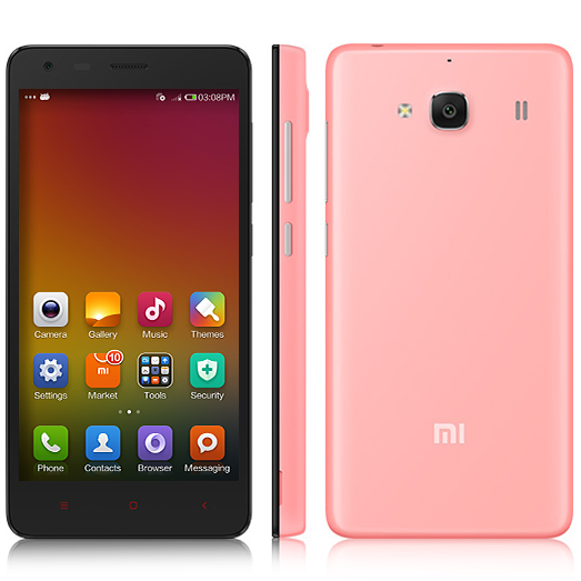 XIAOMI Redmi 2 Smartphone 64bit 4G Quad Core 4.7 Inch HD Screen 8.0MP GLONASS- Pink
