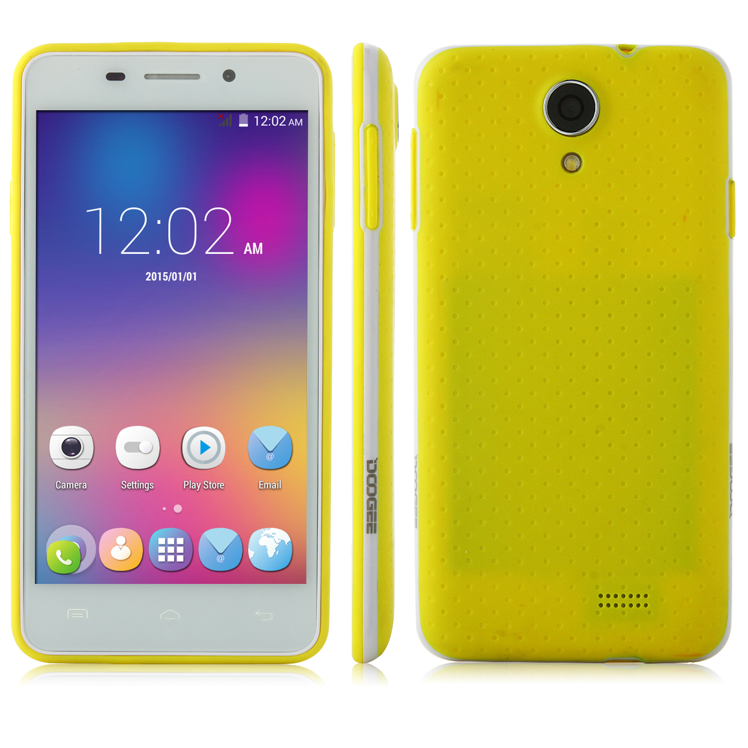 DOOGEE LEO DG280 Smartphone Anti-shock Android 5.0 MTK6582 1GB 8GB 4.5 Inch Yellow