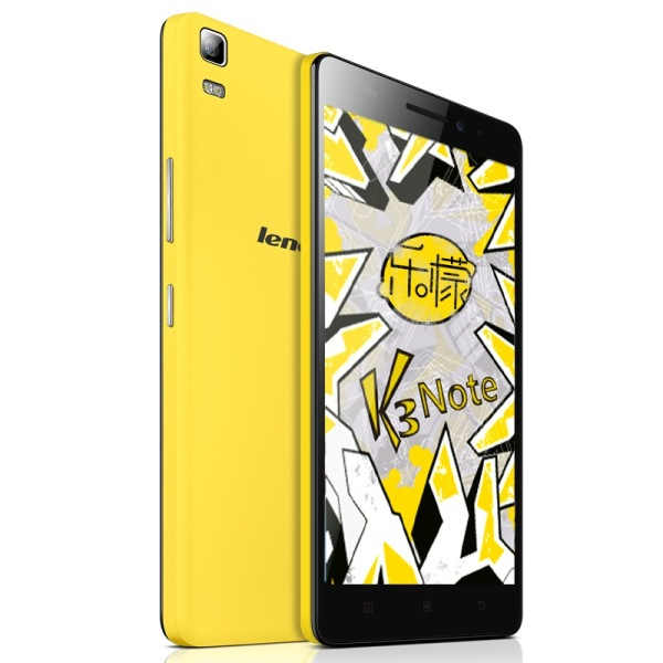 Lenovo K3 Note Smartphone 4G Android 5.0 64bit MTK6752 Octa Core 5.5 Inch FHD Yellow