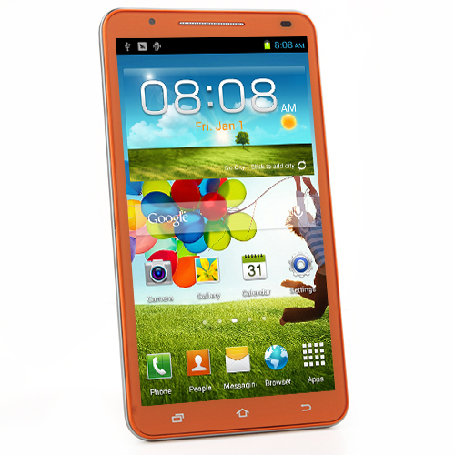 U89 Smartphone Android 4.2 MTK6589 Quad Core 1.2GHz 6.0 Inch GPS 3G -Yellow