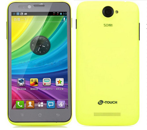 K-Touch E88 Smartphone Android 4.1 Qualcomm MSM8625 1.2GHz 5.0 Inch 3G GPS -Green