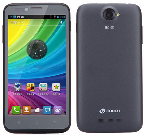 K-Touch E88 Smartphone Android 4.1 Qualcomm MSM8625 1.2GHz 5.0 Inch 3G GPS -Black