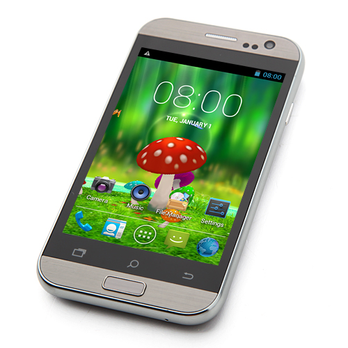 C2 Smartphone Android 4.2 MTK6572W Dual Core 4.0 Inch 3G GPS WiFi -Gray