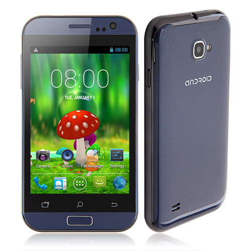 C2 Smartphone Android 4.2 MTK6572W Dual Core 4.0 Inch 3G GPS WiFi -Dark Blue