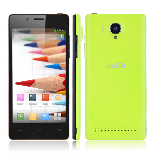 XIAOCAI X9S Smartphone Android 4.2 MTK6582 Quad Core 1.3GHz 1GB 4GB 4.5 Inch 8.0MP Camera -Green
