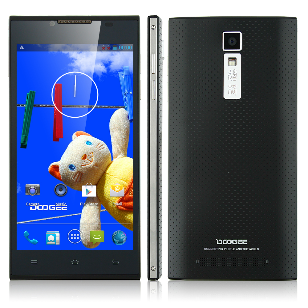 DOOGEE TURBO DG2014 Smartphone MTK6582 Quad Core 5.0 Inch IPS OGS Screen 3G Black