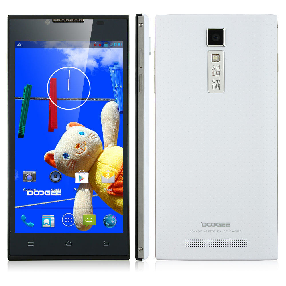 DOOGEE TURBO DG2014 Smartphone MTK6582 Quad Core 5.0 Inch IPS OGS Screen 3G White