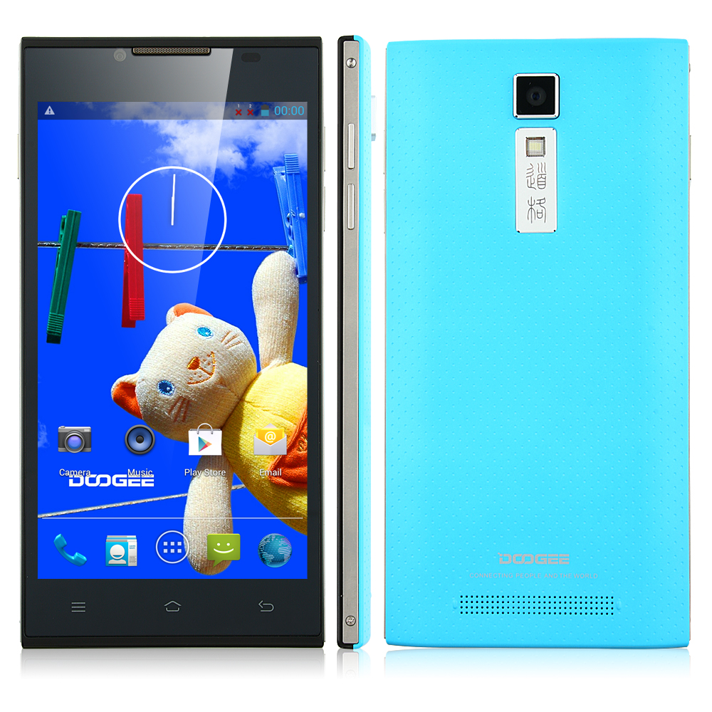 DOOGEE TURBO DG2014 Smartphone MTK6582 Quad Core 5.0 Inch IPS OGS Screen 3G Blue