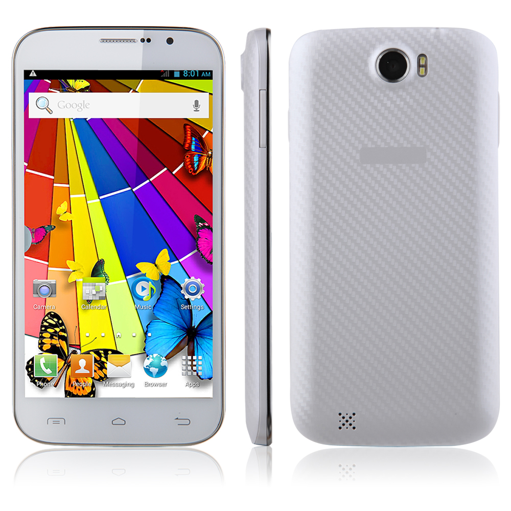 Tengda A9910W Smartphone Android 4.2 MTK6572W Dual Core 6.0 Inch IPS Screen 3G White